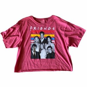 Friends Cropped Oversized Tee